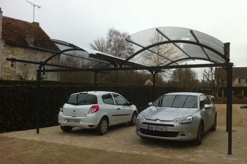 Deux voitures garer optez pour un carport double - Jeux de voiture a garer dans un garage ...