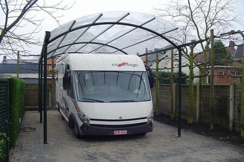 carports et abris sur mesure pour camping car bozarc. Black Bedroom Furniture Sets. Home Design Ideas